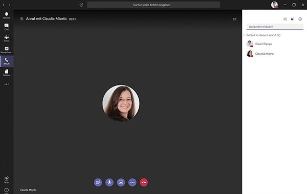 Video call on Microsoft Teams