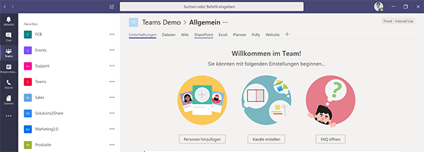 Teams and channels in Microsoft Teams