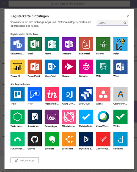 Add services and tools to your channel in Microsoft Teams