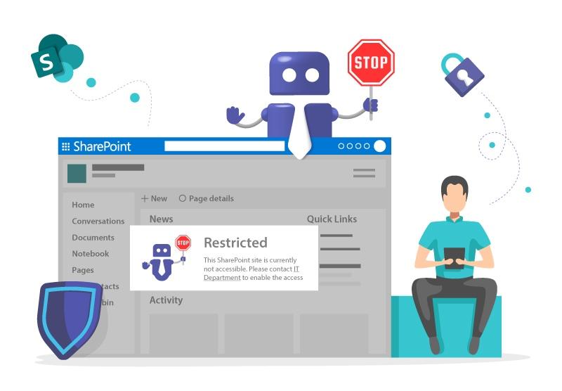 SharePoint von Microsoft Teams blockieren
