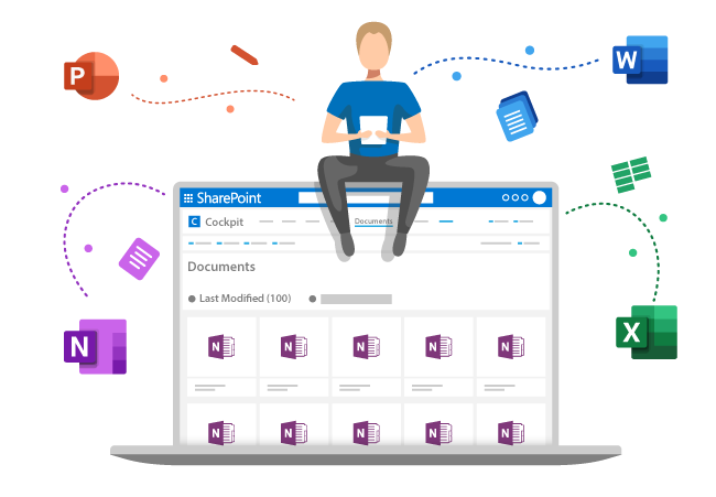 The Cockpit provides you with an overview of all relevant documents in SharePoint