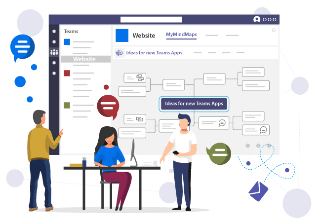 Add your mindmap to a teams channel in Microsoft Teams