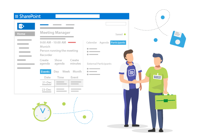 Invite external users and track the status of your Meeting in SharePoint and Office365
