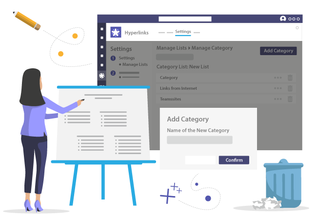 Manage categories for your bookmarks in Microsoft Teams