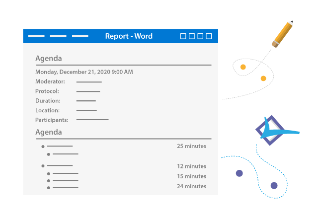 Get a report of your meeting in SharePoint and Office365