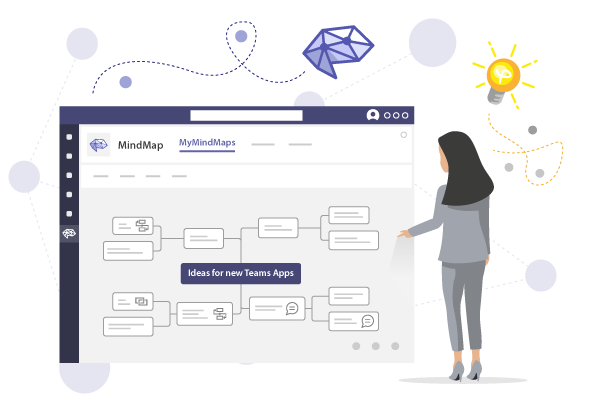 Create Mindmaps in Microsoft Teams with MindMap - the Powerful and Fully Integrated Mindmap Tool