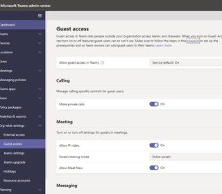 Gastzugang im Microsoft Teams Admin Center