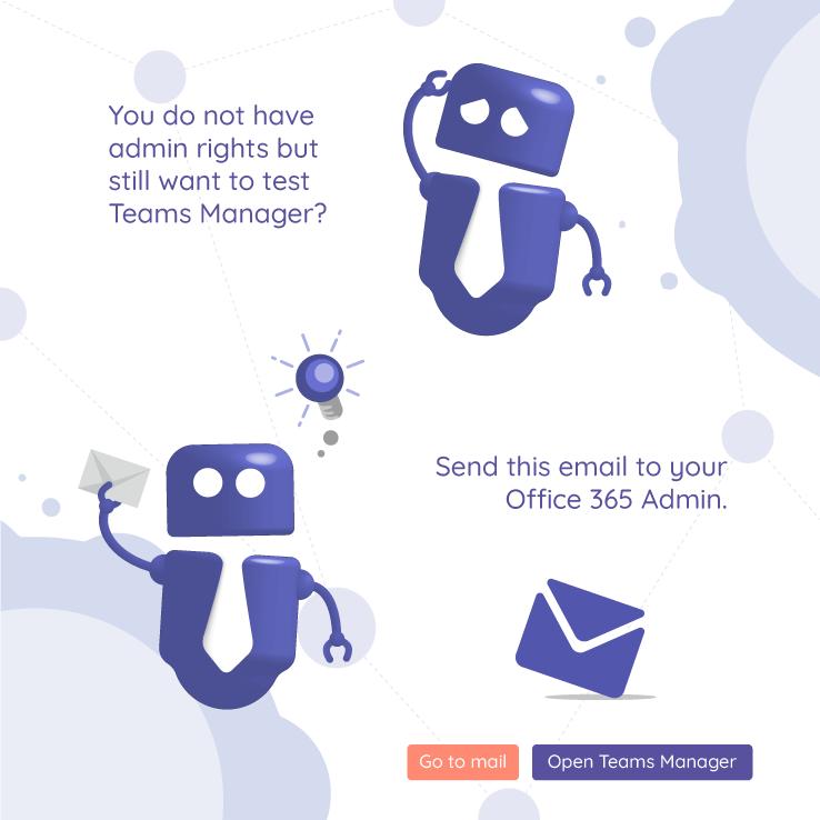 Teams Manager E-Mail an Administrator senden