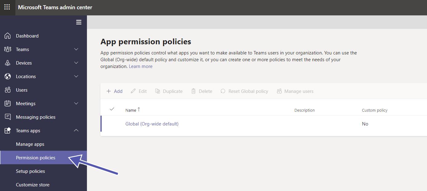 Teams Security: app permission policies