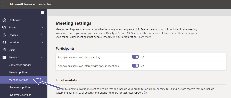 Teams Security: Meeting Settings