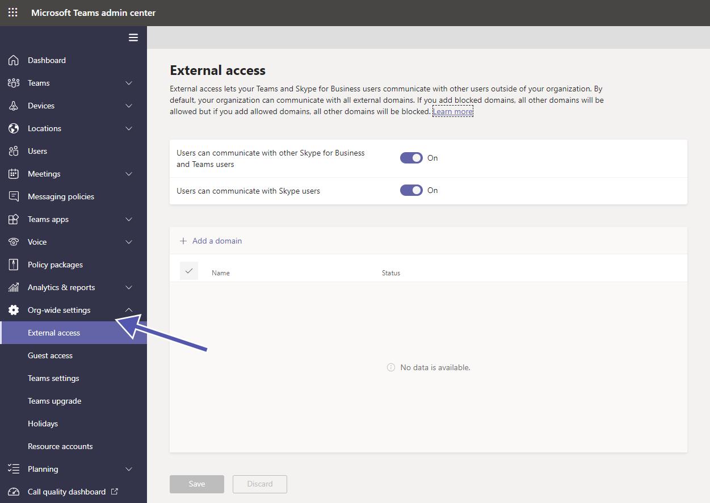 Teams Security: org-wide settings