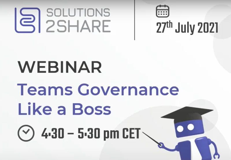 Webinar Teams Governance like a boss