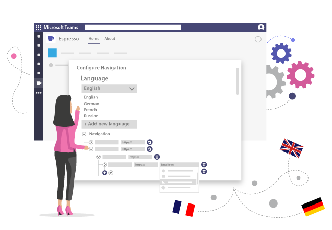 Mehrsprachige Navigation in deinem Microsoft Teams Intranet