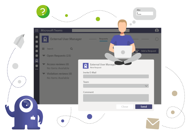 Request new guest access in Teams