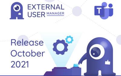 External User Manager Release October 2021